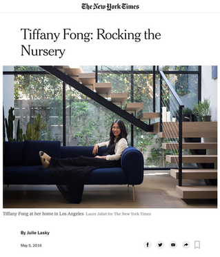 New York Times: Tiffany Fong on Rocking the Nursery (2016)