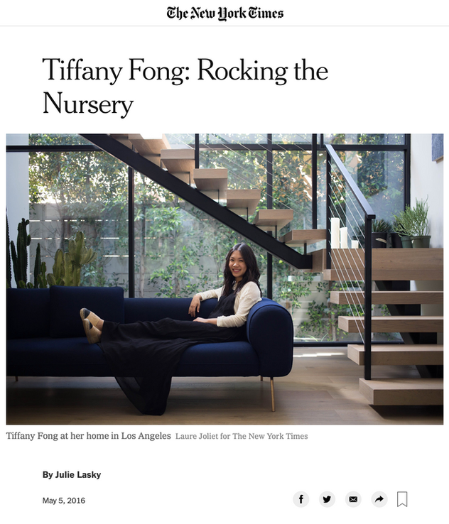 New York Times: Tiffany Fong on Rocking the Nursery (2016)
