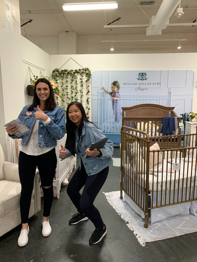 Our Brand team representing Million Dollar Baby Classic at the LA Baby Show
