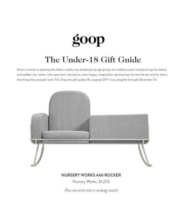 Goop: Under-18 Gift Guide (2016)