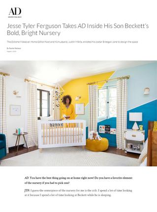 Architectural Digest: Jesse Tyler Ferguson & Justin Mikita's Nursery (2020)