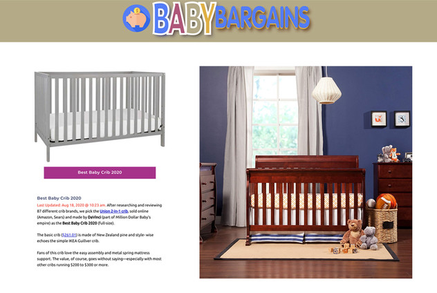 Baby Bargains: Best Baby Crib (2020)