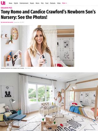 Us Magazine: Tony Romo & Candice Crawford's Nursery (2017)