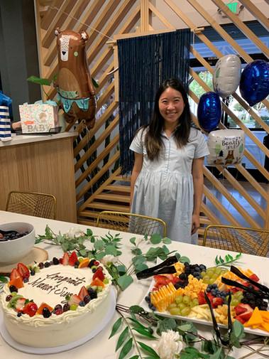 Celebrating Anna's baby shower
