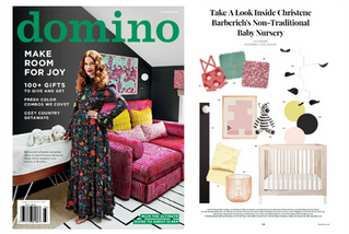 Domino Magazine: Take A Look Inside Christene Barberich's Non-Traditional Baby Nursery (2018)
