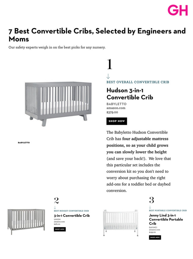 Good Housekeeping: 7 Best Convertible Cribs (2019)