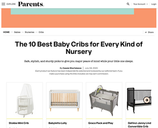 Parents Magazine: The 10 Best Baby Cribs for Every Kind of Nursery (2020)