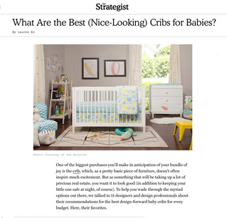New York Magazine: What Are the Best (Nice-Looking) Cribs for Babies? (2019)