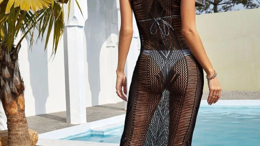 Maxi Mesh Cover Up