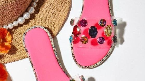 Bejeweled Flip Flops