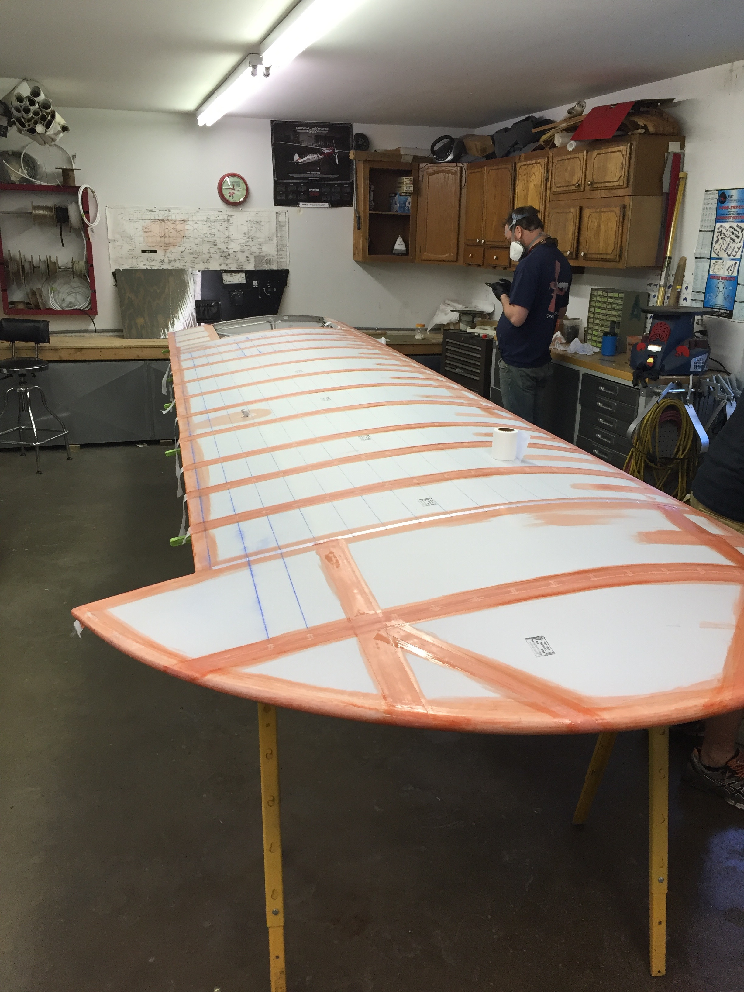 Taping the wing
