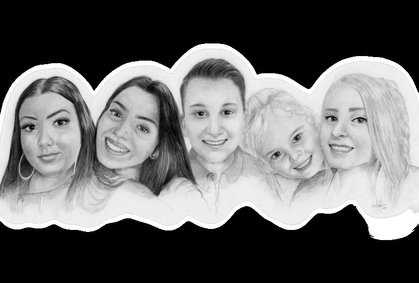 Family Pencil Portrait