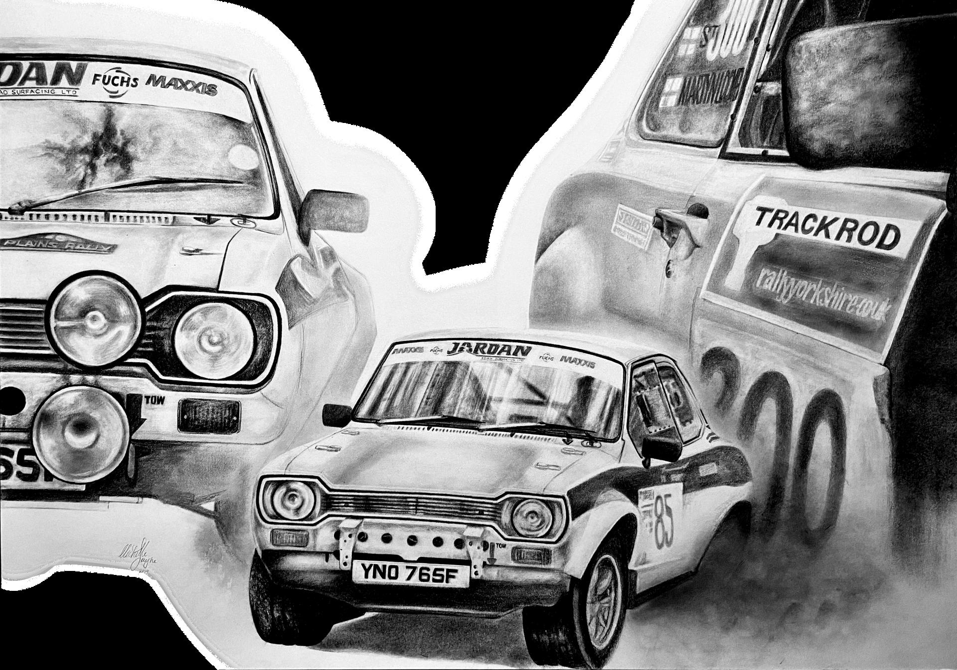 Rally Car Drawings
