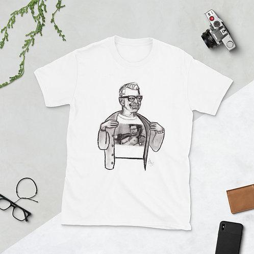 Jeff Goldblum Wearing a Jeff Goldblum T-Shirt
