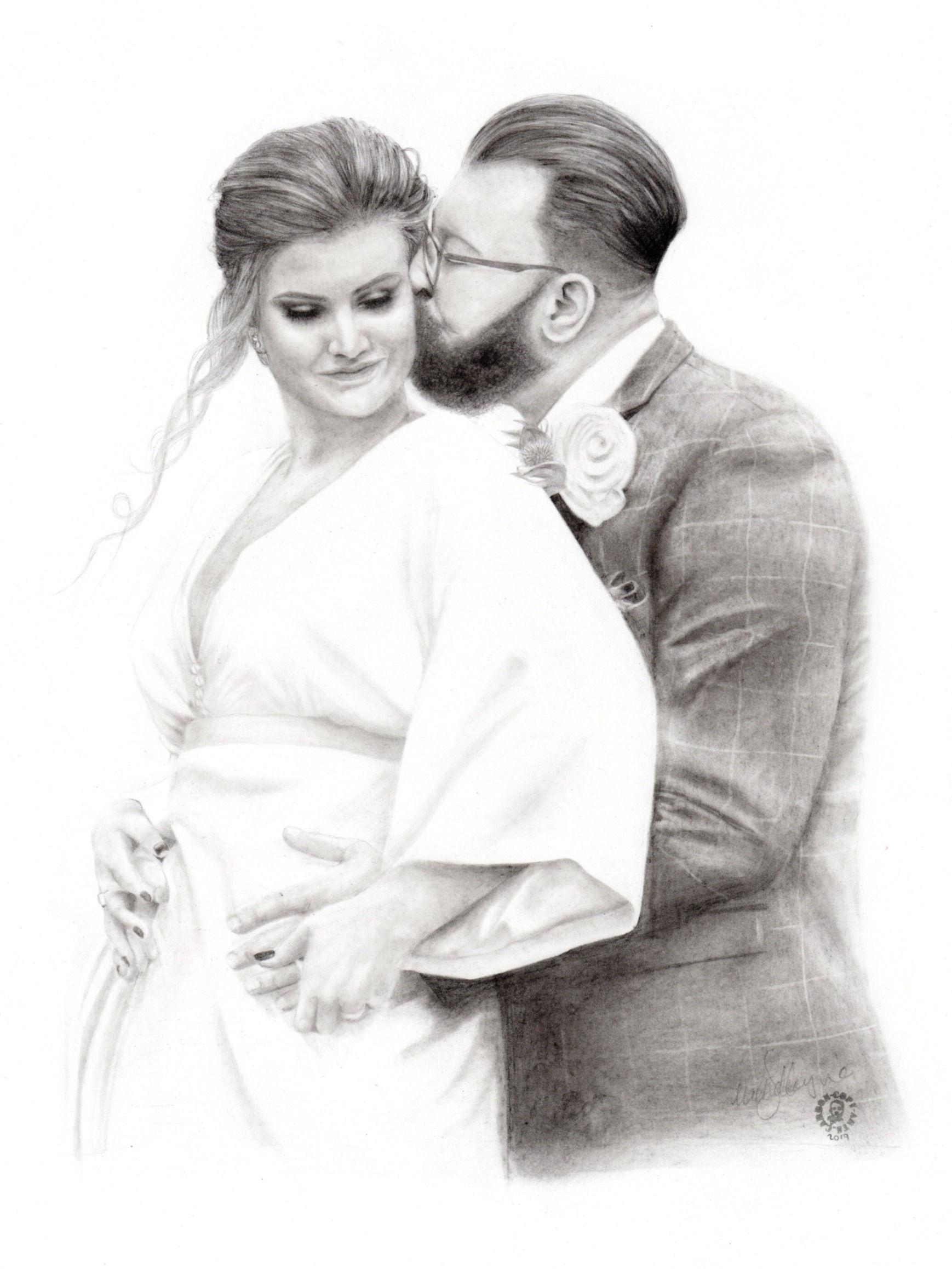 Wedding Portrait in Pencil