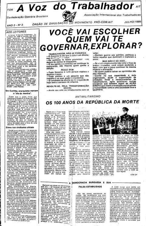 A Voz do Trabalhador 3 - 1989