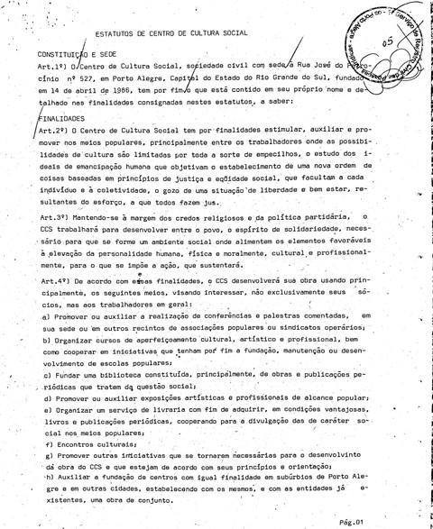 CCS - Estatuto