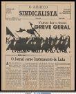 O Anarco Sindicalista 1 - 1989