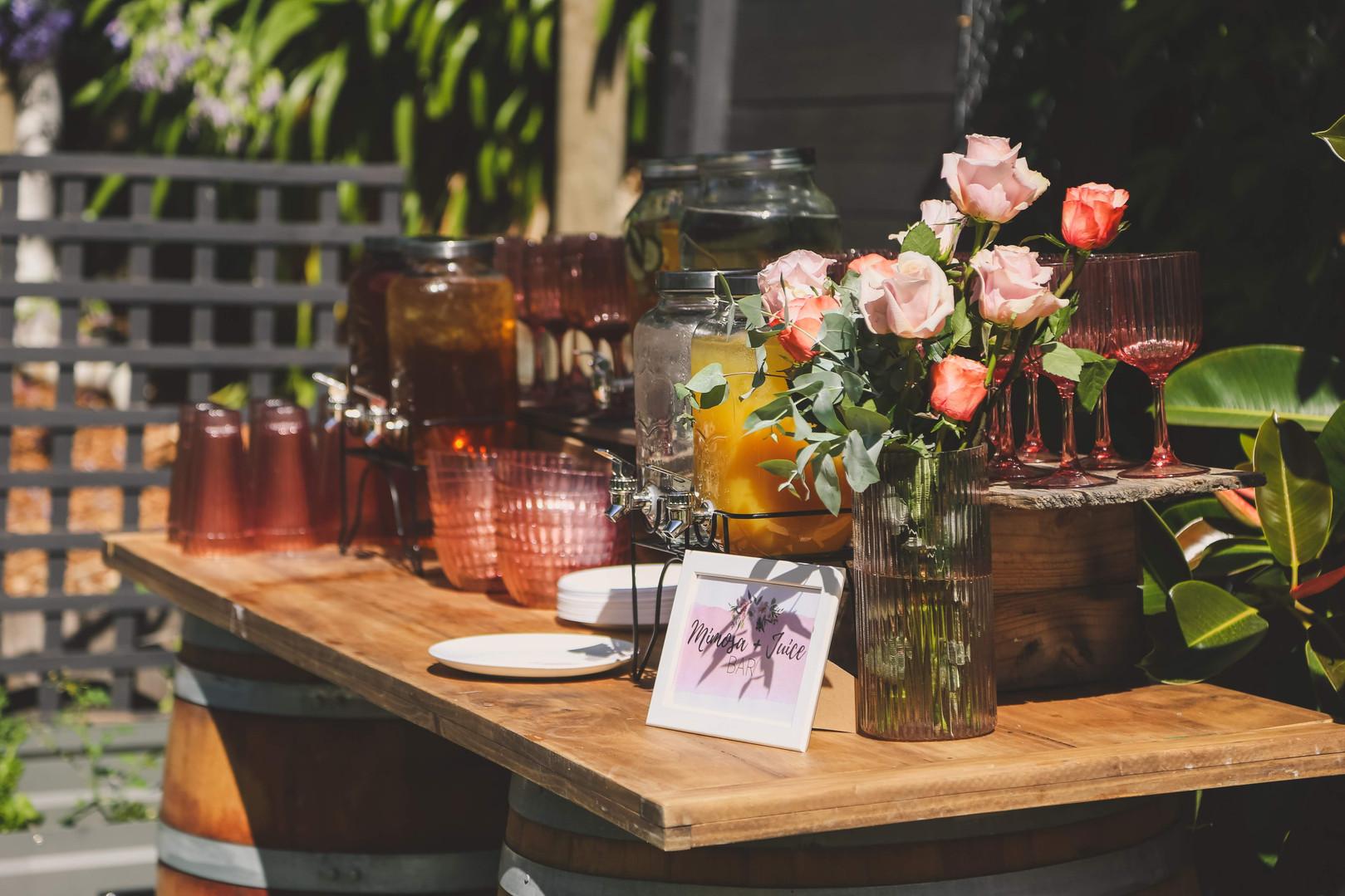 Wine Barrels, Table top & Drinks