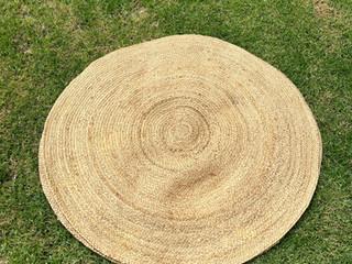 Round Rattan Rug