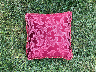 Red Swirl Cushion