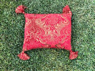 Red Tassle Cushion