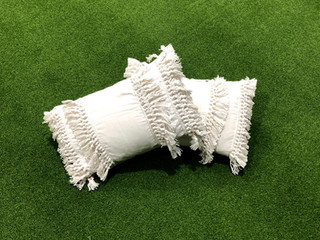 White Fringe Cushion