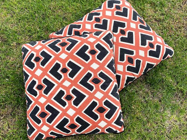 Black and Orange Cushion