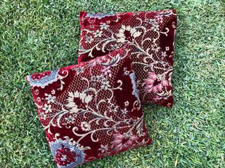 Red Velvet Cushions