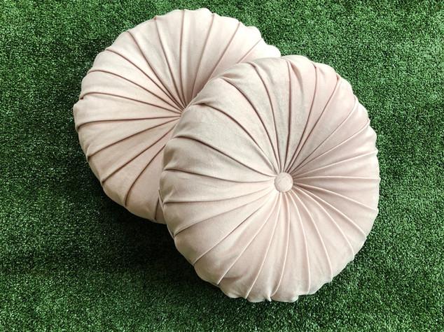 Pink Round Cushion