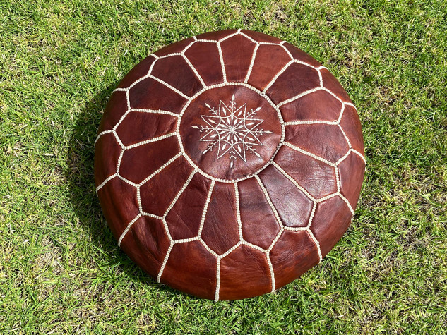 Moroccan Pouf - Chocolate