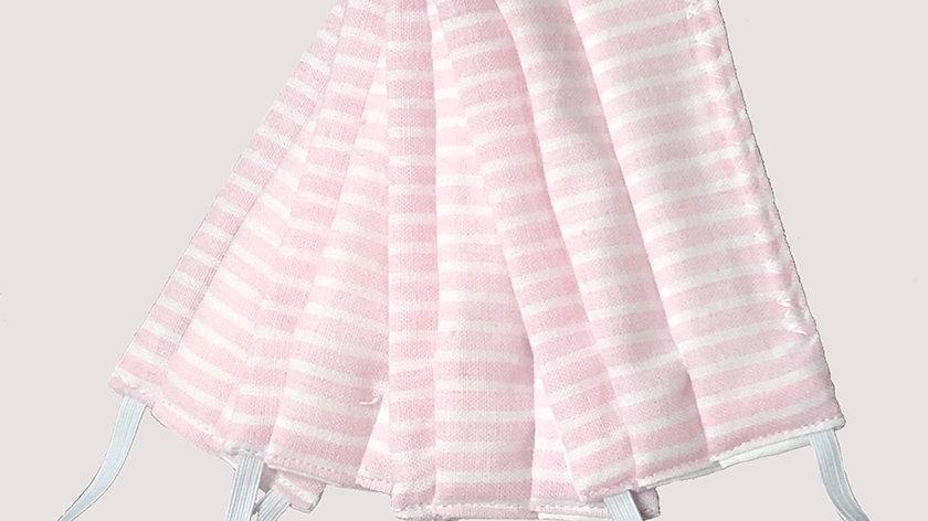 Light Pink Pin Stripe Child Face Mask