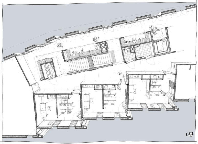 Plan des cabinets et salle d'attente