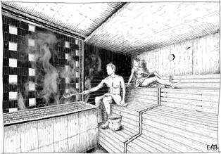 intérieur des saunas