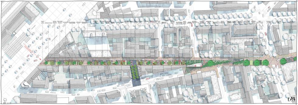 Plan de restructuration de l'avenue