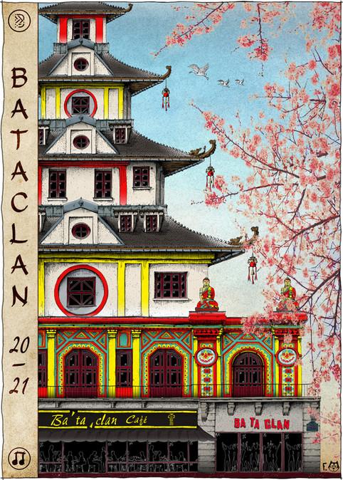 Affiche Bataclan jour