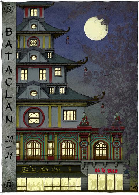 Affiche Bataclan nuit