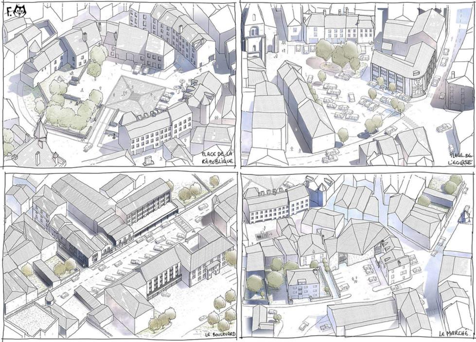 Ussel - Espaces publics