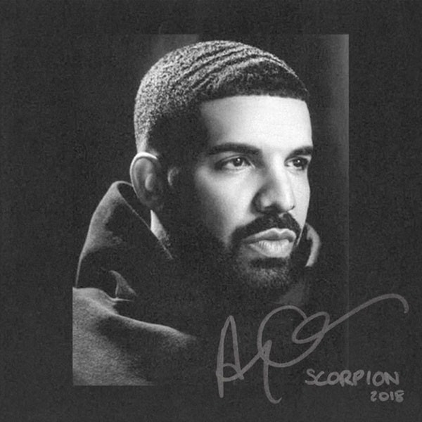 Drake on the cover of Scorpion