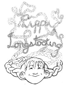 A sketch of the Pippi Longstocking book cover.