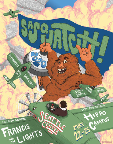 My take on a Sasquatch Music Festival poster for 2020.  Project timeline: about 2 weeks.