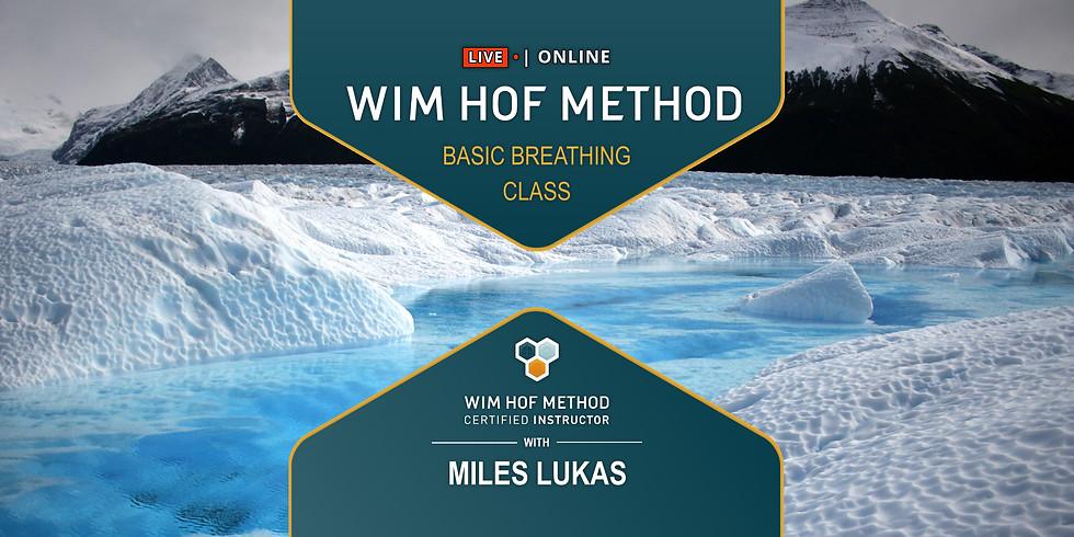 Wim Hof Method WEDNESDAY Live Breathing Class