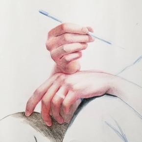 Hands Study (Self Portrait)