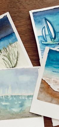 polaroids of ocean
