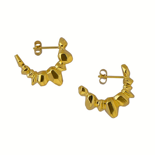 Big earrings Vermeil