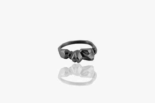 Bague 010 Rhodium noir