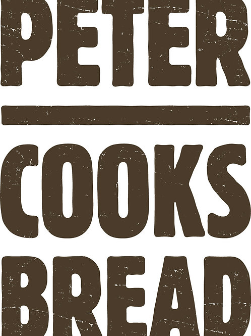 Peter Cooks Bread Apron