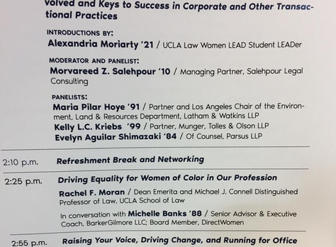 Ms. Salehpour Moderated and Spoke at the UCLA Law Women LEAD Summit 2019