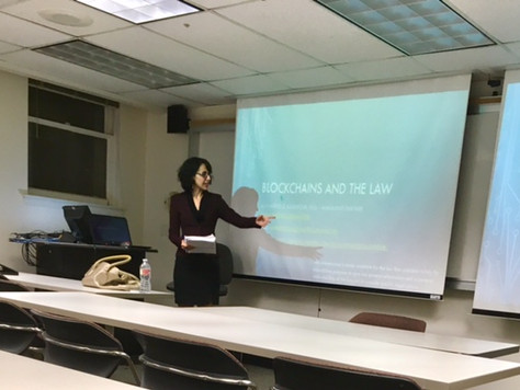 Ms. Salehpour Recently Presented at the IBA Blockchain Accelerator at USC