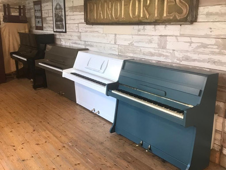 Bespoke Colour Mid Century Upright Piano